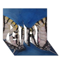 Butterfly GIRL 3D Greeting Card (7x5)