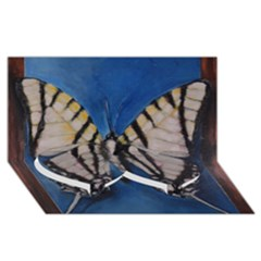 Butterfly Twin Heart Bottom 3d Greeting Card (8x4)