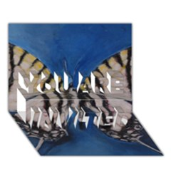 Butterfly You Are Invited 3d Greeting Card (7x5)