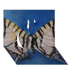 Butterfly Apple 3D Greeting Card (7x5)