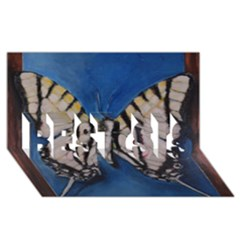 Butterfly BEST SIS 3D Greeting Card (8x4)