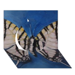 Butterfly Circle 3D Greeting Card (7x5)