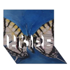Butterfly HOPE 3D Greeting Card (7x5)