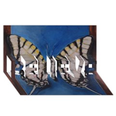 Butterfly Believe 3d Greeting Card (8x4)