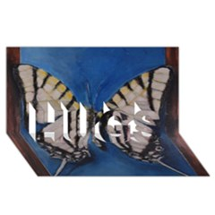 Butterfly HUGS 3D Greeting Card (8x4)
