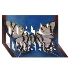 Butterfly Best Wish 3D Greeting Card (8x4)