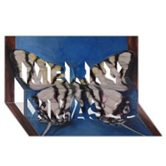 Butterfly Merry Xmas 3D Greeting Card (8x4)