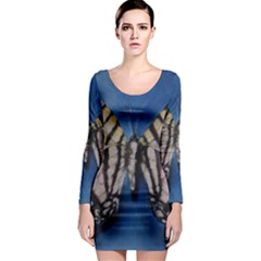Butterfly Long Sleeve Bodycon Dresses