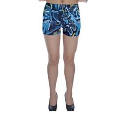 Man And Woman Skinny Shorts