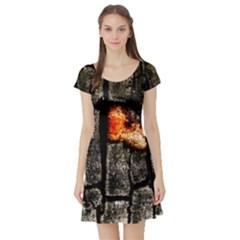 Change Short Sleeve Skater Dresses