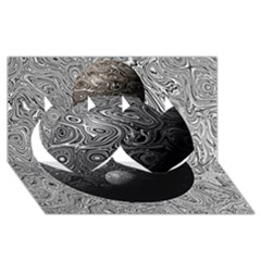 Liquid Moons Twin Hearts 3D Greeting Card (8x4)