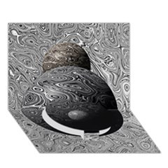 Liquid Moons Circle Bottom 3D Greeting Card (7x5)
