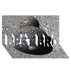 Liquid Moons BEST BRO 3D Greeting Card (8x4)