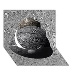Liquid Moons Circle 3d Greeting Card (7x5)