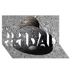 Liquid Moons #1 Dad 3d Greeting Card (8x4)