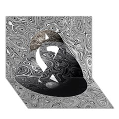 Liquid Moons Ribbon 3d Greeting Card (7x5)