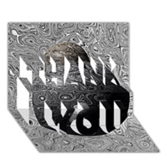 Liquid Moons Thank You 3d Greeting Card (7x5)