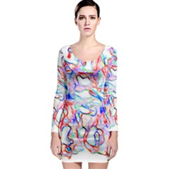 Soul Colour Light Long Sleeve Bodycon Dresses