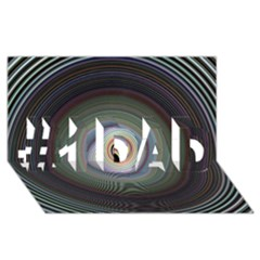 Colour Twirl #1 DAD 3D Greeting Card (8x4)
