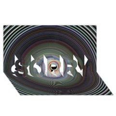 Colour Twirl SORRY 3D Greeting Card (8x4)