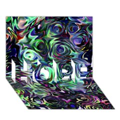 Colour Play Flowers HOPE 3D Greeting Card (7x5)