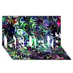 Colour Play Flowers BELIEVE 3D Greeting Card (8x4)