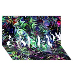 Colour Play Flowers Sorry 3d Greeting Card (8x4)