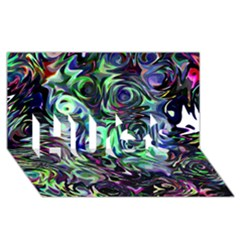 Colour Play Flowers Hugs 3d Greeting Card (8x4)