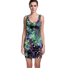 Colour Play Flowers Bodycon Dresses