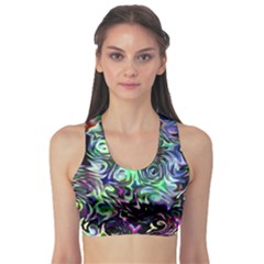 Colour Play Flowers Sports Bra