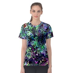 Colour Play Flowers Women s Sport Mesh Tees