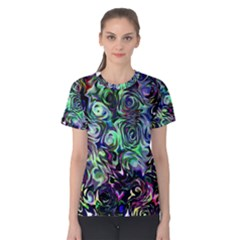 Colour Play Flowers Women s Cotton Tees