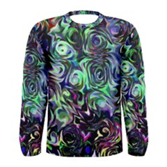 Colour Play Flowers Men s Long Sleeve T-shirts