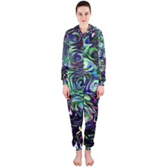 Colour Play Flowers Hooded Jumpsuit (Ladies)