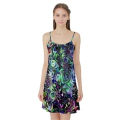 Colour Play Flowers Satin Night Slip