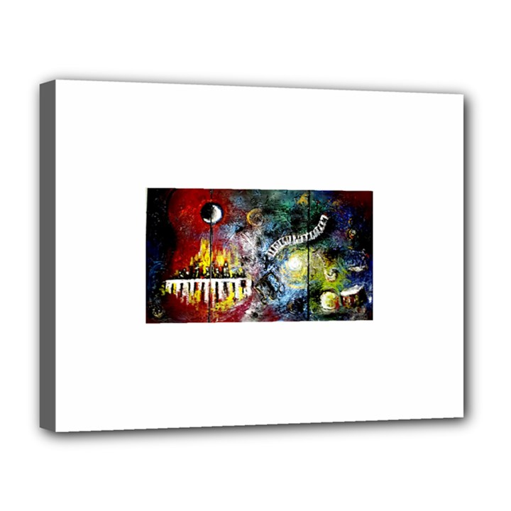 Abstract Music Painting Canvas 14  x 11
