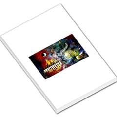 Abstract Music Painting Large Memo Pads
