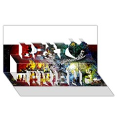 Abstract Music Painting Best Friends 3D Greeting Card (8x4)