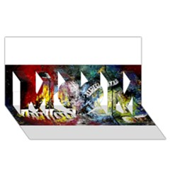Abstract Music Painting MOM 3D Greeting Card (8x4)
