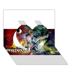 Abstract Music Painting Heart 3d Greeting Card (7x5)