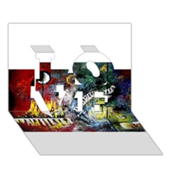 Abstract Music Painting LOVE 3D Greeting Card (7x5)
