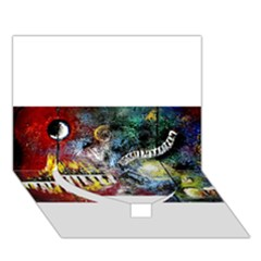 Abstract Music Painting Heart Bottom 3D Greeting Card (7x5)