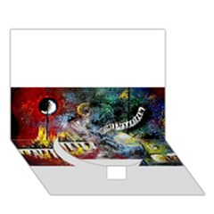 Abstract Music Painting Circle Bottom 3d Greeting Card (7x5)