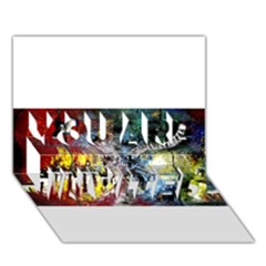 Abstract Music Painting YOU ARE INVITED 3D Greeting Card (7x5)
