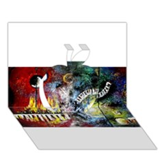 Abstract Music Painting Apple 3d Greeting Card (7x5)