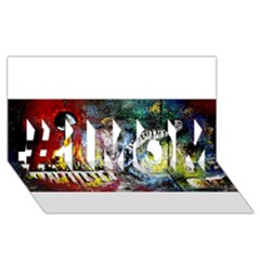 Abstract Music Painting #1 MOM 3D Greeting Cards (8x4)