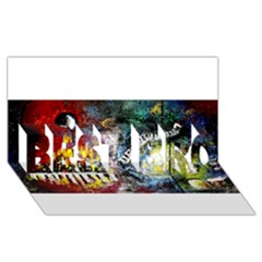 Abstract Music Painting Best Bro 3d Greeting Card (8x4)