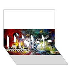 Abstract Music Painting Hope 3d Greeting Card (7x5)