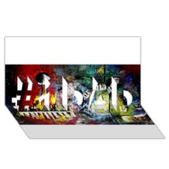 Abstract Music Painting #1 DAD 3D Greeting Card (8x4)