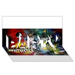 Abstract Music Painting Party 3d Greeting Card (8x4)